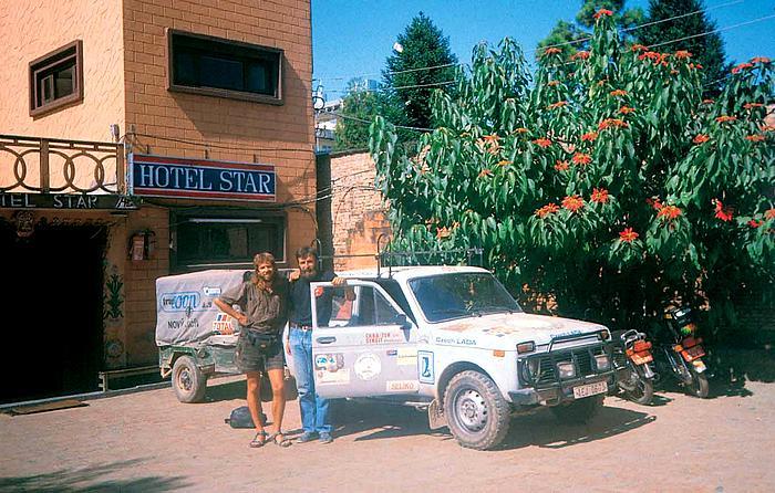 Start putování žigulíkem na trase Káthmándú – Brno, 1993
