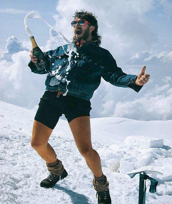 """""""Šampusové opojení"""" z vrcholu Mont Blanc! 1990"""