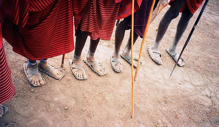 Masajské obutí. Barum?